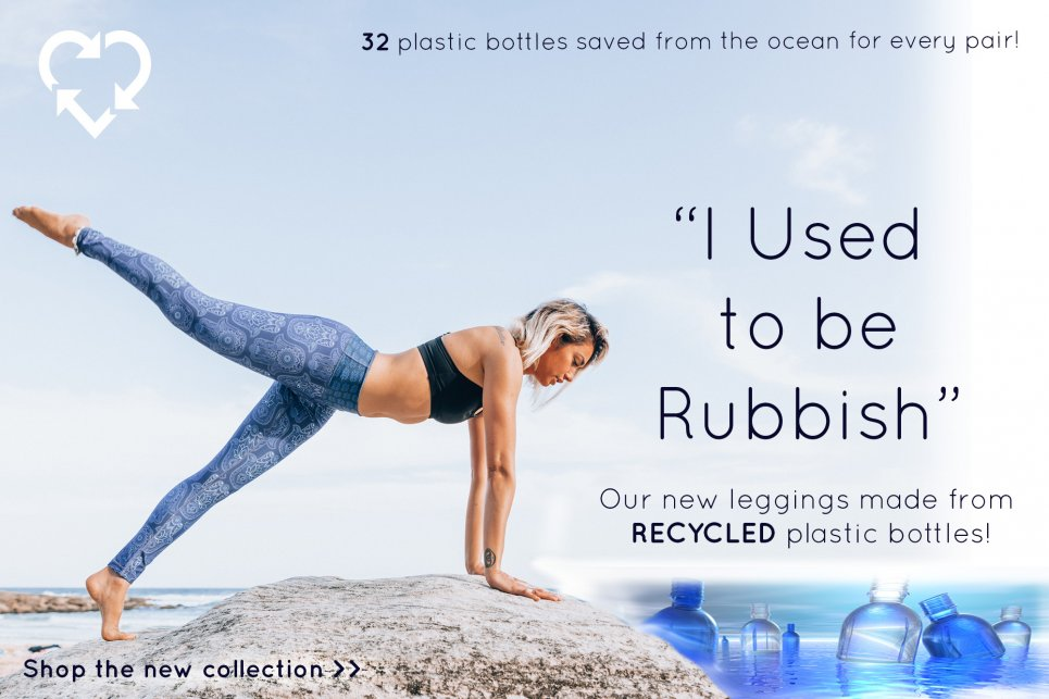 eco friendly leggings made from 32 plastic bottles