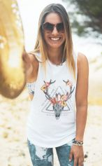 *NEW* Kudu Lotus - Organic Cotton Bamboo Yoga Tank