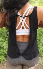 *NEW* Twist Back Top Organic Cotton & Bamboo - Black