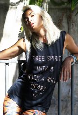 Rock & Roll BLACK - Organic Cotton Bamboo Yoga Top
