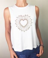 **NEW IN** Shot to the Heart Flow Tank - Organic Cotton Bamboo Yoga Top