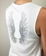 **NEW IN** Angel Wings Flow Tank - Organic Cotton Bamboo Yoga Top
