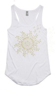 Mandala Bird - Organic Cotton & Bamboo Yoga Tank