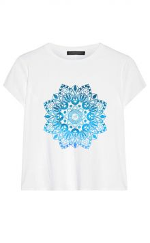 *NEW* Blue Mandala Boxy Tee - Organic Cotton/Bamboo