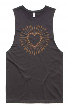 Shot to the Heart - Organic Cotton Bamboo Yoga Top