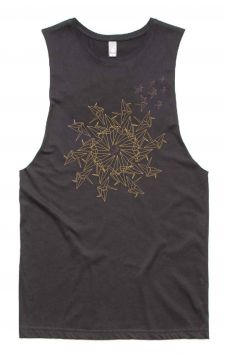 Mandala Bird - Organic Cotton Bamboo Yoga Tank