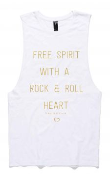 Rock & Roll - Organic Cotton Bamboo Yoga Tank