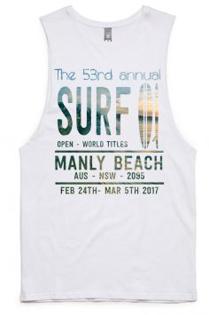 Manly Beach Surf Open Tank - 100% Premium Cotton