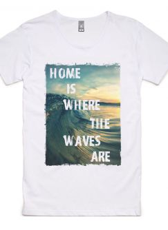 Where the Waves Are Tee - 100% Cotton Men's T-Shirt