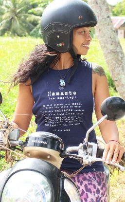 Namaste Tank NAVY - Organic Cotton Bamboo Yoga Top