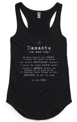 Namaste Singlet - Organic Cotton & Bamboo Yoga Top