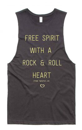 Rock & Roll - Organic Cotton Bamboo Yoga Top