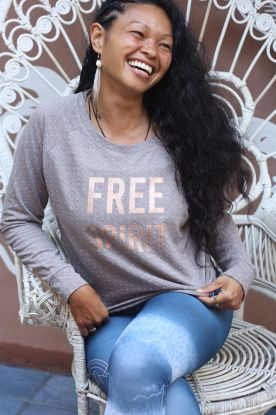 **NEW** FREE SPIRIT spot texture Organic Cotton Sweater