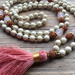 The LOVE Mala - Rose Quartz