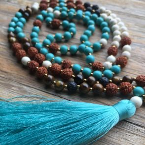 The FREE SPIRIT Mala - with Blue Tassle