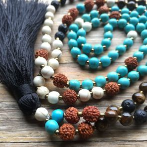 The FREE SPIRIT Mala - with Black Tassle