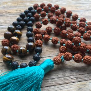 The SHIVA Mala - with Jade Tassle