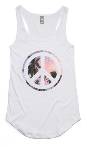 Peace Palms - Organic Cotton & Bamboo Yoga Tank: XS