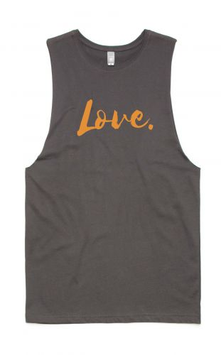 *NEW* LOVE Tank GREY - Organic Cotton Bamboo Unisex Tank: XS