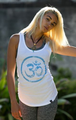 Om Tank - Organic Cotton Bamboo Yoga Top: S