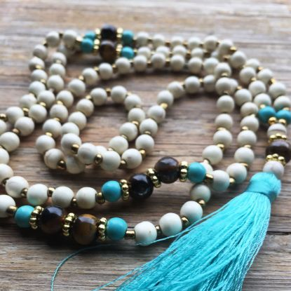 The PATIENCE Mala - with Blue Tassle