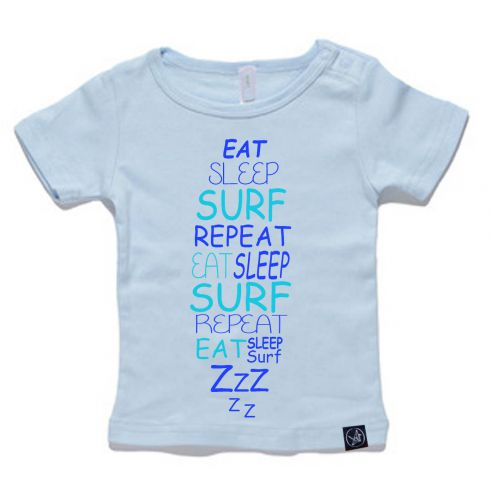 Eat Sleep Baby Blue Tee - NOW $29.12! : 0-3 Months