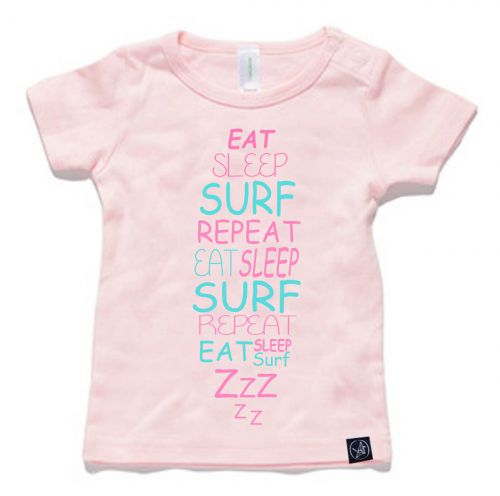 Eat Sleep Baby Pink Tee - NOW $29.12 with 20% OFF!: 0-3 Months