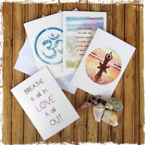 Namaste Greeting Cards (Pack of 4)