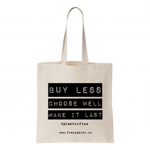 """""""Buy Less"""" Tote Bag"""