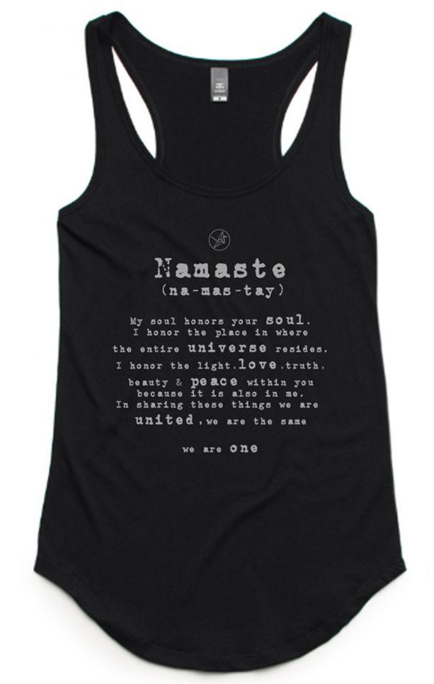 Namaste Singlet Organic Cotton Amp Bamboo Yoga Top Free